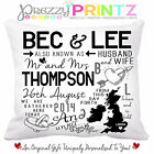 ❤PERSONALISED UNIQUE WEDDING GIFT CUSHION CHRISTMAS ANNIVERSARY VALENTINE MR&MRS