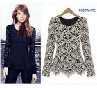 Fit Peplum Crochet Lace Women Blouses Shirts FC02 - Shipping from Melbourne