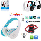 Foldable Wireless Stereo Bluetooth Headphone Earphone For iPhone Samsung Laptop