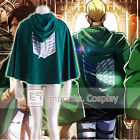 Attack on Titan Scouting Legion Dark Green Hoodie Cloak Jacket FREE P&P