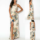 Women Floral Sleeveless Evening Cocktail Party Maxi Prom Gown Vintage Long Dress