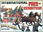 1903 International Fire Brigade Exhibition Earls Court London Poster A3 Print
