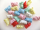 Childrens Teddy Bear Buttons 14mm - Pack of 10 - Various Colours