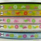 "3/8"" 9mm Mixed Lemon Grosgrain RIBBON 5/50Yards Craft Sewing Hair Bow Embellish"