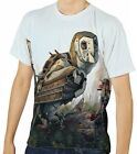Robot Owls Next To Woman Archer Men's Clothing T-Shirts S M L XL 2XL 3XL