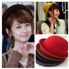 Fashion Vogue Ladies Women Girl Vintage Wool Black Bowler Derby Trilby Hat Cap