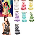 Summer Women Lady Sleeveless Blouse Loose Hollow Out Lace Crochet Vest Tops LJ