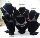 2014 Shop Mannequin Bust Necklace Pendant Earring Display Stand Holder CA WB