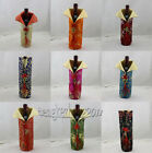 Free shipping! WHOLESALE MIX CHINA SILK FLOWER WINE BOTTLE COVER PARTY DECOR
