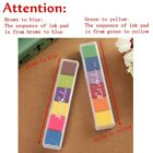 Lovely DIY Multi 6 Color Craft Oil Based Ink Pad For Stamps Paper Wood 2 Choices