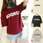 Korean Women's Summer Loose Top Blouse Short Sleeve  Print Crew Neck T-shirt
