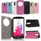 View Window Flip Folio Leather Case Cover Pouch Fr LG G3 Stylus D690N D690 D693N