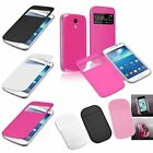 Flip Leather Case Back+Anti-slip Mat Pad Holder For Samsung Galaxy S4 Mini i9190
