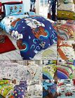 Boys Childrens Quilt Duvet Cover & Pillowcase Bedding Sets Or Matching Curtains