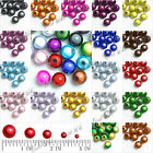 10pcs 12mm Acrylic Round Miracle Spacer Beads Jewelry Making Findings Wholesale