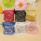 100Pcs Eyelash Organza Wedding Party Favour Gift Candy Bags Jewellery Pouches