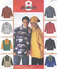 Misses Mens Unisex Pullover Top Hat Sewing Pattern Front Zipper Yoke 8 Look 9582
