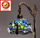 Tiffany Style Dragonfly Reading Floor Lamp Light Stained Glass Vintage Look -NEW