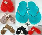 BILLABONG NEW Ladies Flip Flops Thongs Sandals KICKBACK Logo Rubber 5 Colours