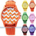 Colorful Braided Weaved Rope Band Women Lady Quartz Lady Men Wrist Watch