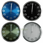 30cm Aluminium Wall Clock Solid Color with Embossed Number