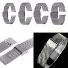 16/18/20/22mm Straight End Stainless Steel Watch Band Strap Mesh Bracelet Belt