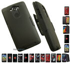 BLACK RUBBERIZED HARD CASE COVER + BELT CLIP HOLSTER STAND FOR MOTOROLA PHONE