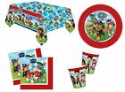 PAW PATROL BIRTHDAY PARTY TABLEWARE NAPKINS PLATES CUPS TABLECOVER