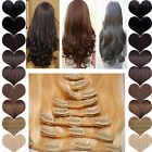 8 pieces thick long hairpiece real as women hair clip in hair extensions new 6S3