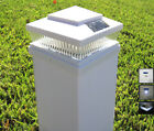 Solar Post Cap Deck Fence LED Lights 5x5 6x6 White Colored White LEDs 2 Pack