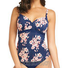 Fantasie Swimwear Pollonia Wrap Front Tankini Top Navy 5701 NEW Select Size