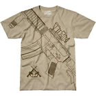 7.62 DESIGN GET SOME T-SHIRT MENS AIRSOFT VICTORY TOP ARMY GUN RIFLE TEE SAND