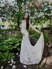 AUTHENTIC Nicole Miller Riley KJ10000 Ivory Lace NEW Bridal Gown 8 RETURN POLICY