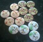 Wooden Butterfly Buttons 15mm Mixed Scrapbooking Sewing Cardmaking 10 or 20