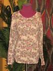 LORD AND TAYLOR NWT $94 3X 100% cotton cardigan women's flowered beige sweater