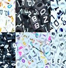 100 pcs mixed number or letter acrylic beads, cube, 6 & 7 mm*