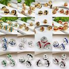 10x Silver Gold Plated Crystal Loose Spacers Ball Bead for Bracelet DIY 6/8/10mm