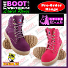 Steel Blue 'Southern Cross' LADIES 522760.  Steel Toe Cap Safety Work Boots. Lac