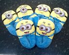 """Minions Slippers Unisex Adult Plush Despicable Me One Size UK 3-8 11"""""""