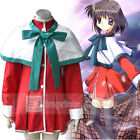 Kanon Girls School Uniform Green Cape Cosplay Costume Full Set FREE P&P