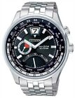 Citizen Eco-Drive Sapphire Dual World Time Watch BR0010-56E BR0017-57E