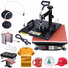 15x15 5in1 Digital Transfer Sublimation Heat Press Machine T-Shirt Mug w Gloves