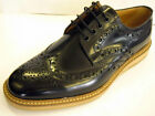 DESIGN Loake 'Wedge' Black Polished Leather, Cemented Crepe Sole Brogues G FIT