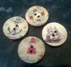 10/20/50 Mixed Wooden Buttons Vintage Nautical 20mm diameter 2 holes