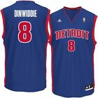 Mens Detroit Pistons Spencer Dinwiddie adidas Blue Replica Jersey