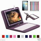 """Micro Keyboard Leather Case+Gift For 7.85"""" TRIO AXS 4G G4 Android Tablet"""
