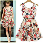 2015 New Fashion Design party Flower prints Women Dress Spring Summer Clothing