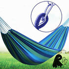 Double 2 Person Cotton Rope Hanging Hammock Swing Fabric Camping Canvas Bed