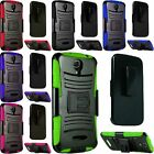 For Alcatel onetouch Pop Astro Hybrid Side Kickstand Cover Case w/ Holster Clip