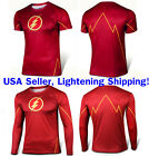 The Flash Costume Tee Short Sleeve Long Sleeve T-Shirt Sports Jersey